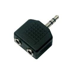 Adaptador Plug 3.5 estereo a 2 Hembras 3.5 estereo
