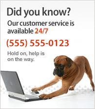 Nuestro servicio al cliente es 24x7. Llamenos al 91 1111111